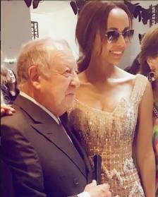 SONIA ROLLAND AND THE FOUNDER OF LEONARD PARIS