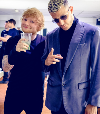 DJ SNAKE and Ed Sheeran _ Backstage NRJ MUSIC AWARDS _ CANNES 2017 styling by me